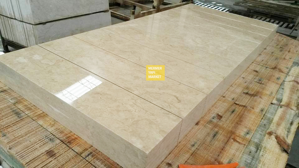 Light Beige Marble Handrail - 2 cm Thickness