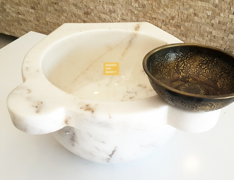 Afyon Wrapped Straight Hammam Sink