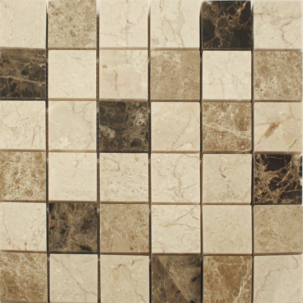 Dark Emperador Beige Mixed Mosaic
