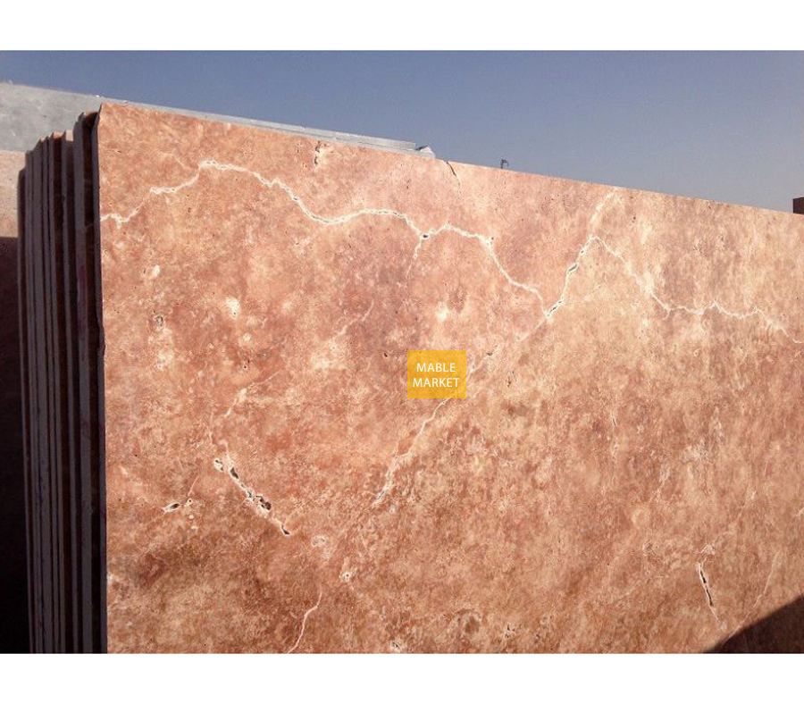 Red Travertine Slabs Honed - Unfilled