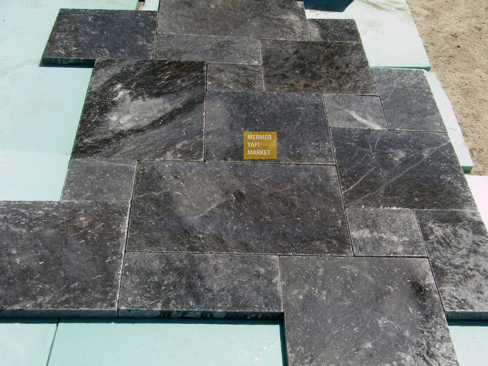 Gray Marble Tumbled French Set