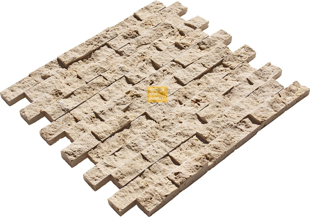 Classic Travertine Split Face Mosaic