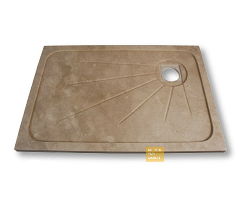 Travertine Square Shower Tray
