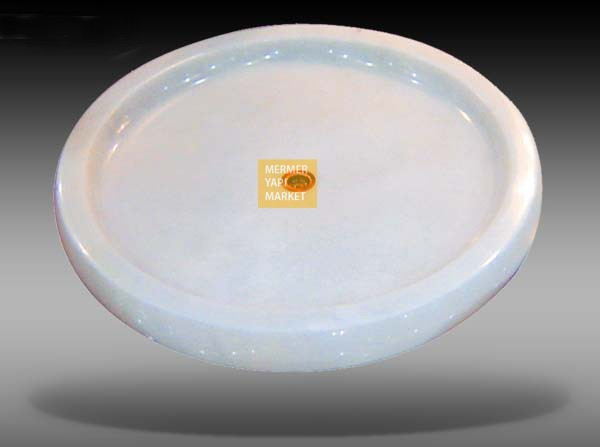 Oval Marble Shower Tray - White