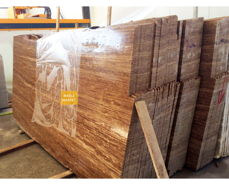 Noche Travertine Slabs Honed - Unfilled