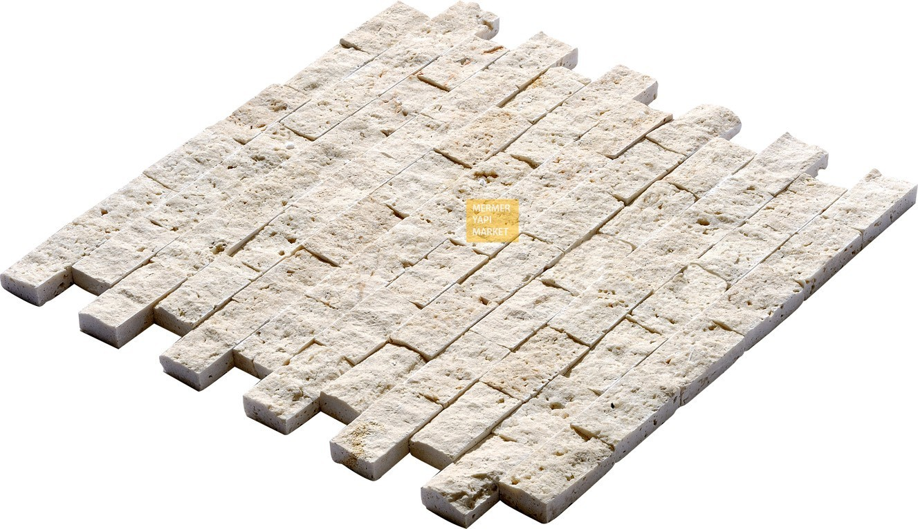 Light Travertine Split Face Mosaic