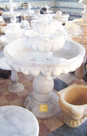 Marble Fountain Embroidered Pattern